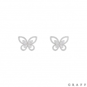 Graff White Gold Diamond Butterfly Earrings
